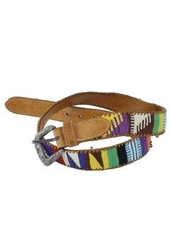 1980's Mens Accessories - Hippie Belt