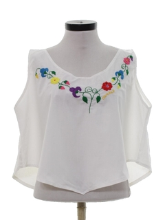 1980's Womens Cropped Hippie Shirt