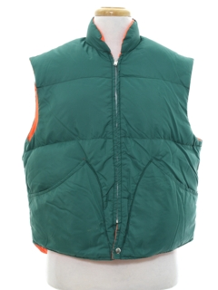 1970's Mens Reversible Ski Vest Jacket