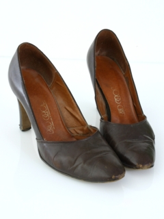 1960's Womens Accessories - Leather Heels Shoes