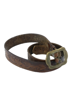 1980's Unisex Accessories - Leather Hippie Belt