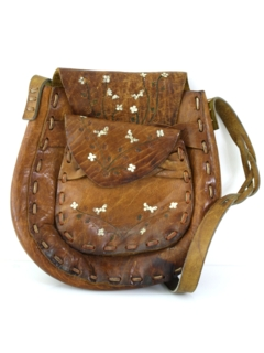 1970's Womens Accessories - Leather Hippie Purse
