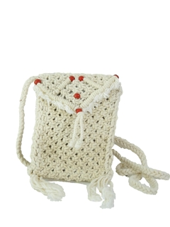 1970's Womens Accessories - Macrame Hippie Purse