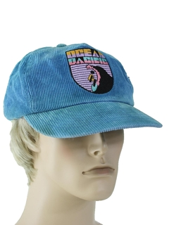 1980's Unisex Accessories - Totally 80s Corduroy Baseball Trucker Hat