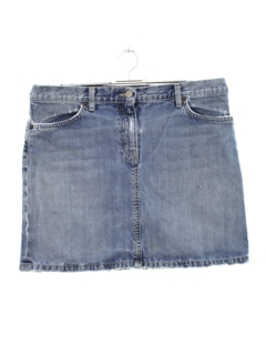 1990's Womens Wicked 90s Mini Denim Jean Skirt
