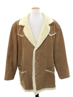 1980's Mens Western Style Corduroy Car Coat Jacket