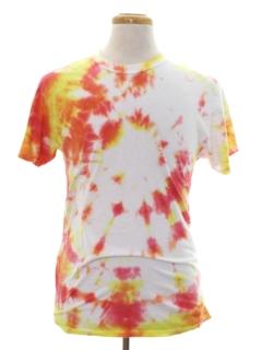 1970's Unisex Tie Dye Hippie T-shirt