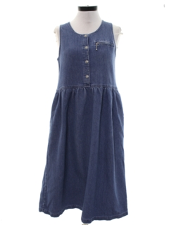 1990's Womens A-Line Wicked 90s Denim Dress