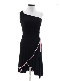 1980's Womens Asymmetrical Lightweight Casual Club Style Prom Or Cocktail Dress