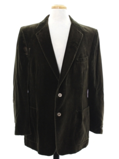 1980's Mens Velvet Blazer Sport Coat Jacket
