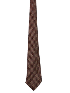 1930's Mens Stitched Look Wide Necktie