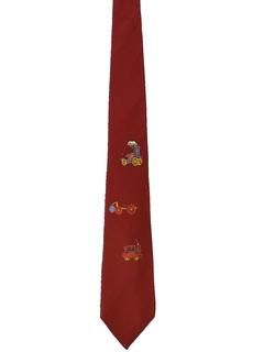 1950's Mens Mod Hand Painted Necktie