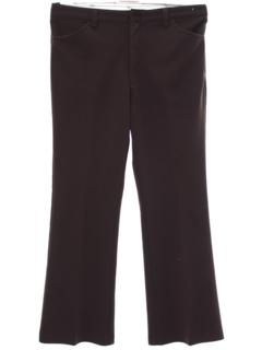 1970's Mens Jeans-Cut Leisure Style Knit Pants