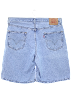 1990's Mens Stone Washed Denim Shorts