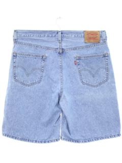1990's Mens Stone Washed Denim Shorts