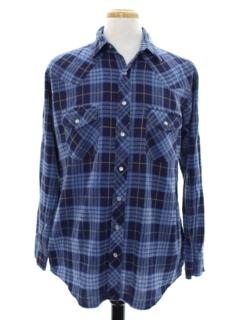 1990's Mens Grunge Flannel Western Shirt