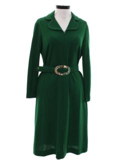 1960's Womens Mod A-Line Knit Dress
