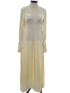 1970's Womens Wedding or Cocktail Dress