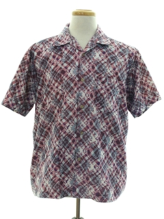 1980's Mens Totally 80s Print Sport Shirt