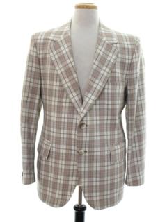 1970's Mens Plaid Blazer Style Sport Coat Jacket