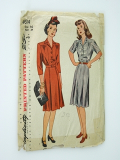 3bdd561a569d Womens 1930's & 1940's Sewing Patterns at RustyZipper.Com Vintage ...