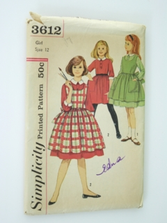 1960's Womens/Girls Pattern