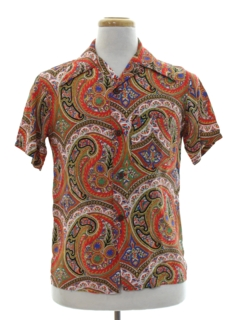 1940's Mens Hawaiian Brand Sport Shirt