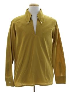 1960's Mens Mod Pullover Sport Shirt