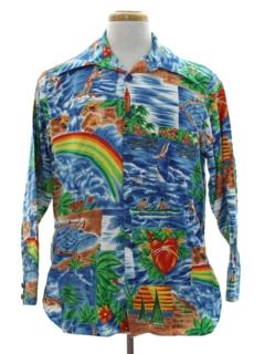 1970's Mens Hawaiian Shirt