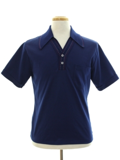 1960's Mens Mod Knit Polo Shirt