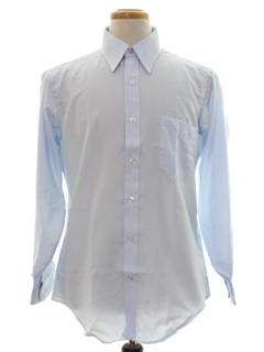 1960's Mens Designer Mod Solid Shirt