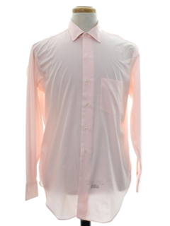 1960's Mens Mod Solid Shirt