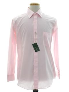 1980's Mens Designer Solid Shirt