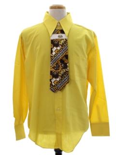 1960's Mens Mod Solid Shirt/Necktie