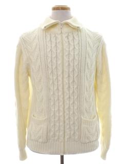 1970's Mens Zip Sweater