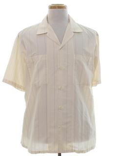 1980's Mens Print Sport Shirt