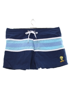 1990's Mens Tweety Bird Swim Shorts