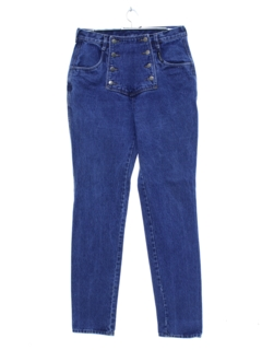 1980's Womens Western Denim High Rise Jeans Pants
