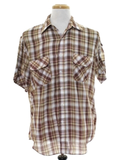 1980's Mens Plaid Shirt