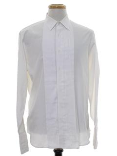 1990's Mens Pleated Tuxedo Shirt
