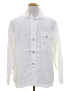 1980's Mens Totally 80s Linen Shirt