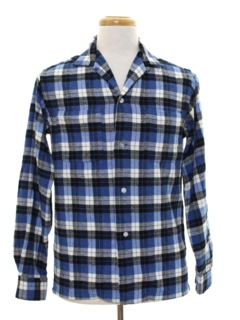1950's Mens Wool Flannel Shirt
