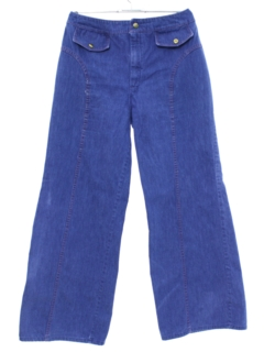 1970's Womens Bellbottom Denim Jeans Pants