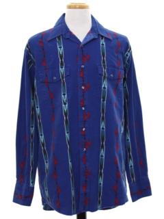 1990's Mens Southwestern Style Western Shirt