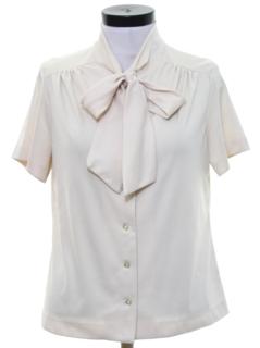 1980's Womens Secretary Shirt