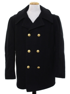 1960's Mens Pea Coat Jacket