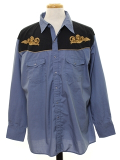 1990's Mens Embroidered Western Shirt