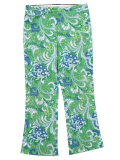 1970's Womens Hippie Style Mod Capri Pants