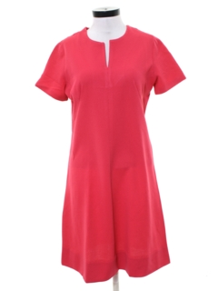 1970's Womens A-Line Mod Knit Dress