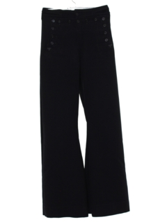1960's Mens Wool Navy Bell Bottom Pants
